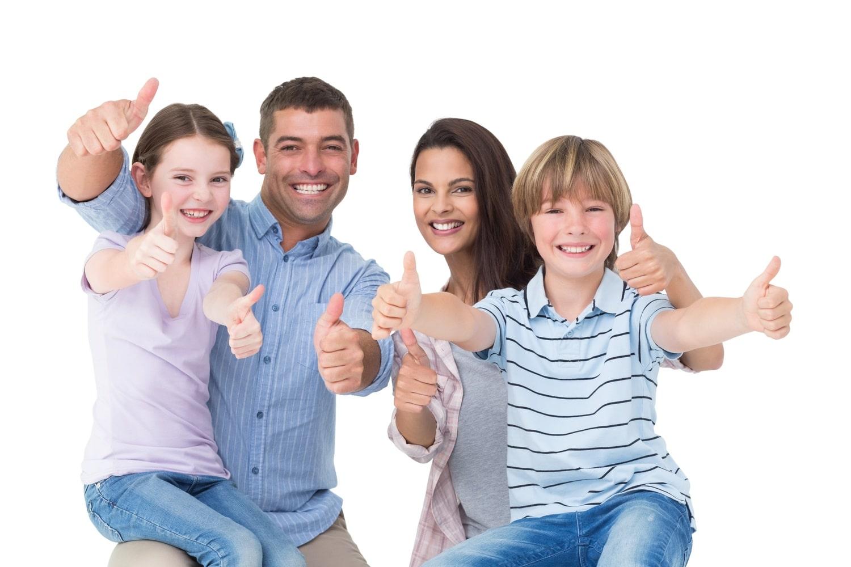 famille papa maman et enfants