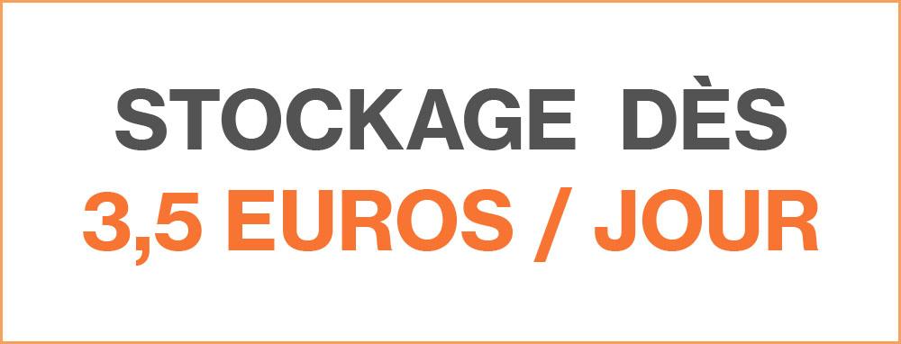 Stockage dès 3,5 Euros par Jour